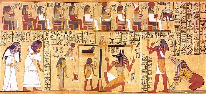 papiro di Ani e la psicostasia, il Cuore in equilibrio con Maat